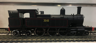 3130 - Austrains: NSWGR C30 Tank locomotive without headlight #3130 with original bunker.-