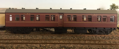 BR - RRP $150 save $15: BR1044 1st CLASS PASSENGER CAR INDIAN RED FROM THE R Type Sets Casula Hobbies: RTR*