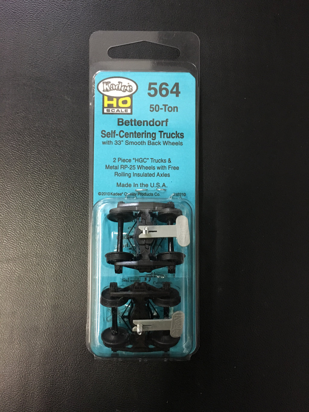 "#564 Bettendorf-Centering Trucks: 33"" Smooth Back Wheels"