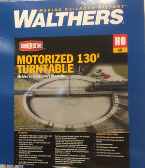 "Walthers: MOTORIZED 130'ft, TURNTABLE with DCC, Assembled - 19-1/8"" 47.8cm Overall Diameter - 933-2859 will take a NSWGR AD60 Garret"