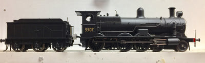 C3307 Ixion Model Railways: NSWGR HO 32 CLASS LOCOMOTIVE 3307 Black, 6 WHEEL TENDER.