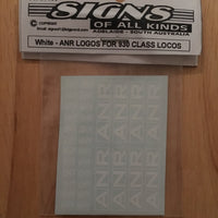 SK106 ANR WHITE LOGOS decal HO