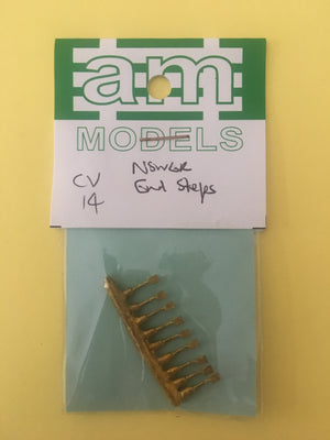 AM Models : CV14 NSWGR BRASS END STEPS for COACHS & VANS
