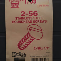 #1709 Screws Stainless Steel 2-56 x 1/2in