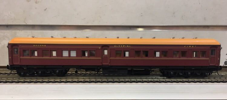 "P. Eureka Models : ACS 925 COMPOSITE SLEEPING CAR INDIAN RED NSWGR 12 Wheel Passenger 72'.6"" Car Series ."