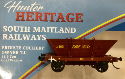 LL103 R.T.R. AYRFIELD LL103  Private Owner COAL HOPPER Single hopper, SOUTHERN RAIL MODELS HO.