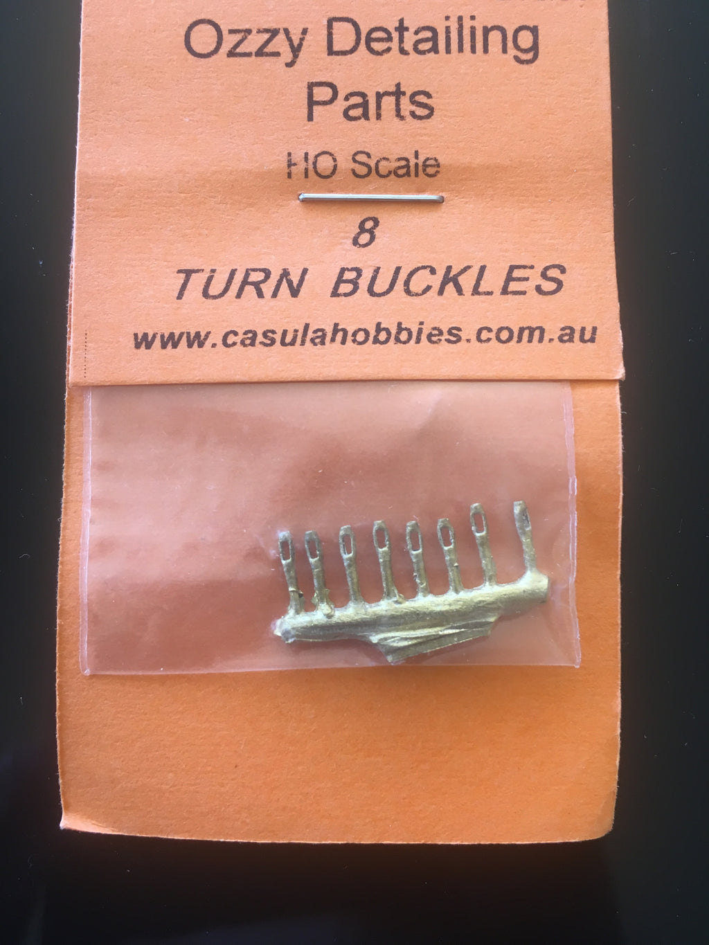 34: TURN BUCKLES #34 (8) HO Ozzy Brass: #34