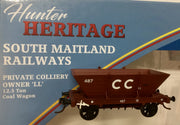 "R.T.R. Cessnock LL487  Private Owner COAL HOPPER "" CC "" Single hopper, SOUTHERN RAIL MODELS HO."