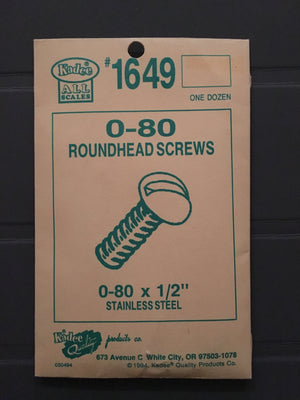 #1649 Screws Stainless Steel 0-80 x 1/2in