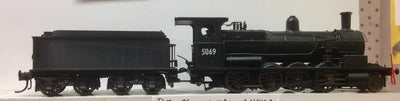 5096 ANNIVERSARY DISCOUNT SALE D5096 NON SOUND Eureka Models D50 Class SATURATED Steam Locomotive (RRP $705.00) Black with WEATHERED of the NSWGR