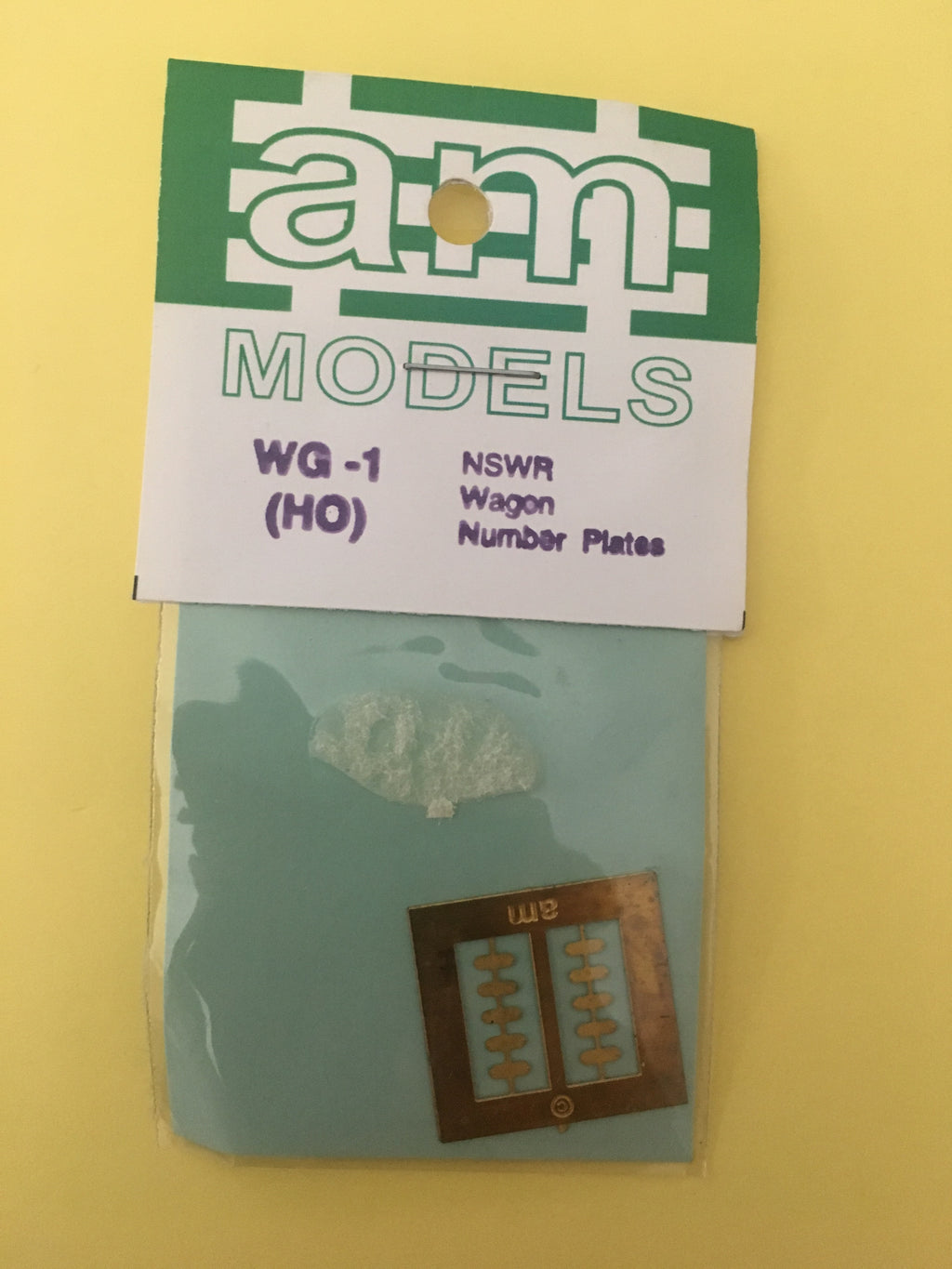 AM Models : WG01 (HO) NSWGR Wagon Number Plater