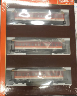 FO 043 AUSTRAINS NEO : End Platform Car  - SRA CANDY 3 cars Pack (NEW)