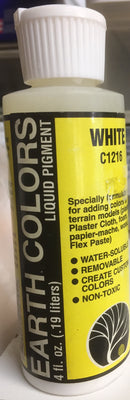 Woodland Scenics: C1216 EARTH COLOUR WHITE 4OZ.