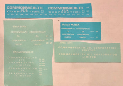 SK211 COMMONWEALTH OIL CORP VALUE PACK DECALS