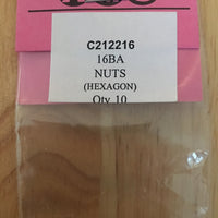 NUTS 16 BA BRASS (Hexagon) QTY 10
