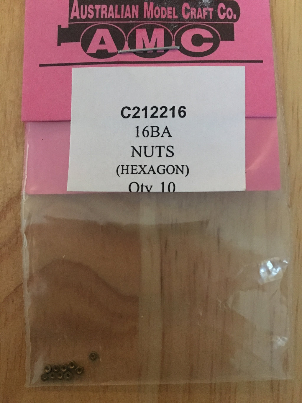 16 BA Nuts (Hexagon) QTY 10
