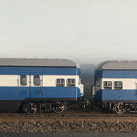 Casula Hobbies: RTR 1964 Sydney Electric Suburban Trailers: 2 car blue/high white 1974 set T4905/T4918