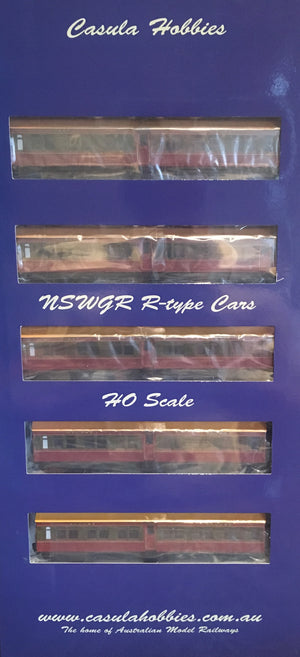 "007 R Type Casula Hobbies: NSWGR ""R Type"" 7 Car, Set 108, SOUTHERN HIGHLANDS EXPRESS 1948/58 Tuscan Red & Russet Set, Ex, ""Caves Express"""