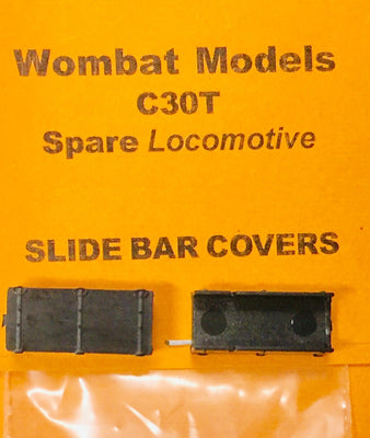 Parts: Wombat models C30T: SLIDE BAR COVERS 1 Pr.