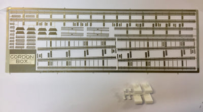 GORDON BOX MODELS Sydney 1926 Overhead Masts kit using Nickle Silver Etching