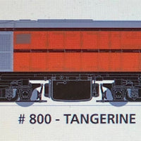 800 class DC Powered: #001 Loco No 800 in TANGERINE  SOUTH AUSTRALIAN RAILWAYS: SDS Models NOW AVAILABLE