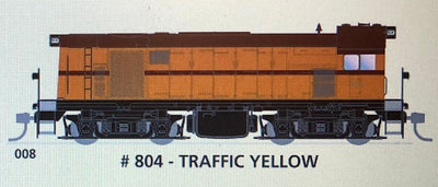 800 class SAR. SDS Models : 008 #804 TRAFFIC YELLOW: Non Sound