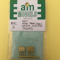 AM Models : RTC2 NSWR Tank Cars Safty Placecard holders brass casting (2)