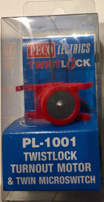Peco: NEW PL-1001 TWISTLOCK TURNOUT MOTOR  & TWIN MICROSWITCH OO/HO