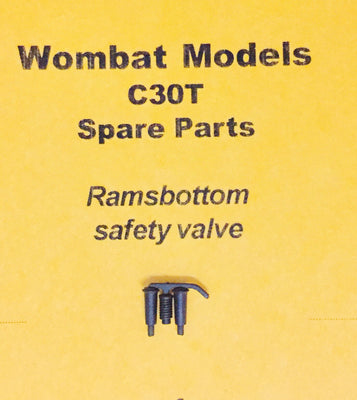 Parts: Wombat models C30T: LOCOMOTIVE Ramsbottom  safety valve