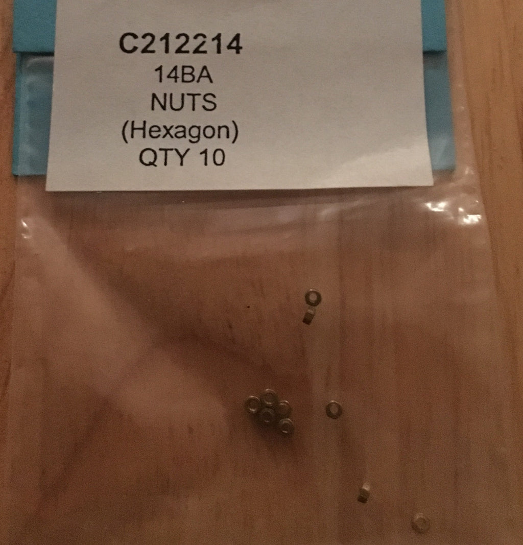 14BA NUTS BRASS (Hexagon) QTY 10