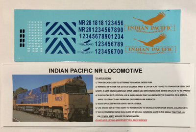 SK218 NR INDIAN PACIFIC LOCOMOTIVE LIVERY IN YELLOW / BLUE DECAL