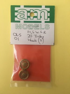 "AM Models: OLS-01 NSWGR 20"" Trolley Wheels (2)"