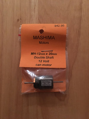 MH: 12mm x 20mm MASHIMA MOTOR 12 VOLTS DOUBLE SHAFT