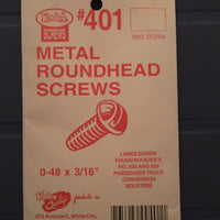 #401 Screws Metal 0-48 x 3/16in