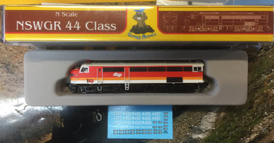 44 Class Mk3 Candy NSWR LOCOMOTIVE GOPHER MODEL N Scale