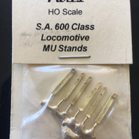 HANDRAIL 110 - 830 / 600 MU & Handrail Stanchions for 830/600 Class S.A.R. Ozzy Brass #110