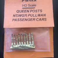 Queen Posts 81 -  9 for Pullman Passenger Cars Ozzy Brass Parts  #81