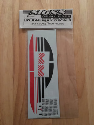 SK104 SCT T Class High Profile logos locomotive decal HO