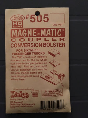 #505 Conversion Bolster for 6 wheel passenger trucks (bogies)