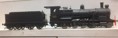 5221 Eureka Models D50 Class S/Heated Steam Locomotive Black 5221 NB DCC with SOUND of the NSWGR