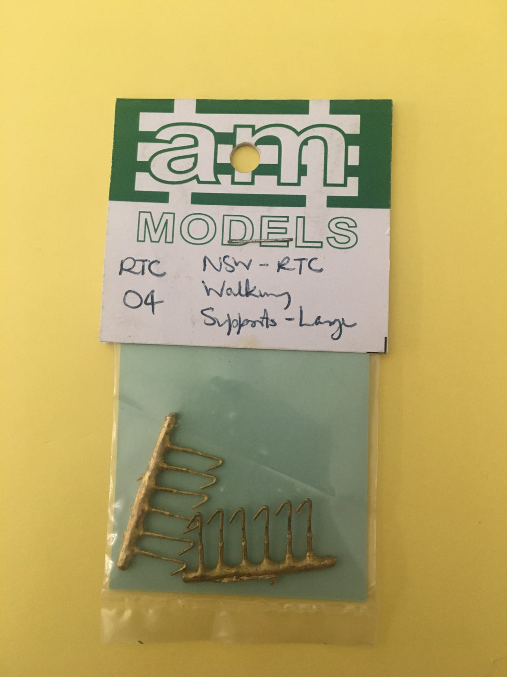 AM Models : RTC4 NSWR Tank Walkway supports (large) brass casting