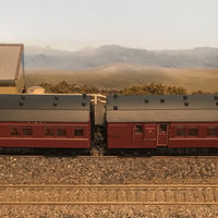 "Casula Hobbies: NSWGR ""R Type"" 7 Car, Set 108 Indian Red ""Caves Express"" / ""Southern Highlands""1958 till withdrawal."
