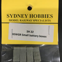 SH22 6ft BATTERY BOXES SMALL (4) AND CIRCUIT BOARDS (2) suits NSWGR PASSENGER CARS (4)