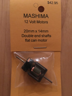 MH: 14mm x 20mm MASHIMA MOTOR 12volt double shaft