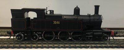 3046 - Austrains: NSWGR C30 Tank locomotive without headlight #3046: with solid steel bunker.-