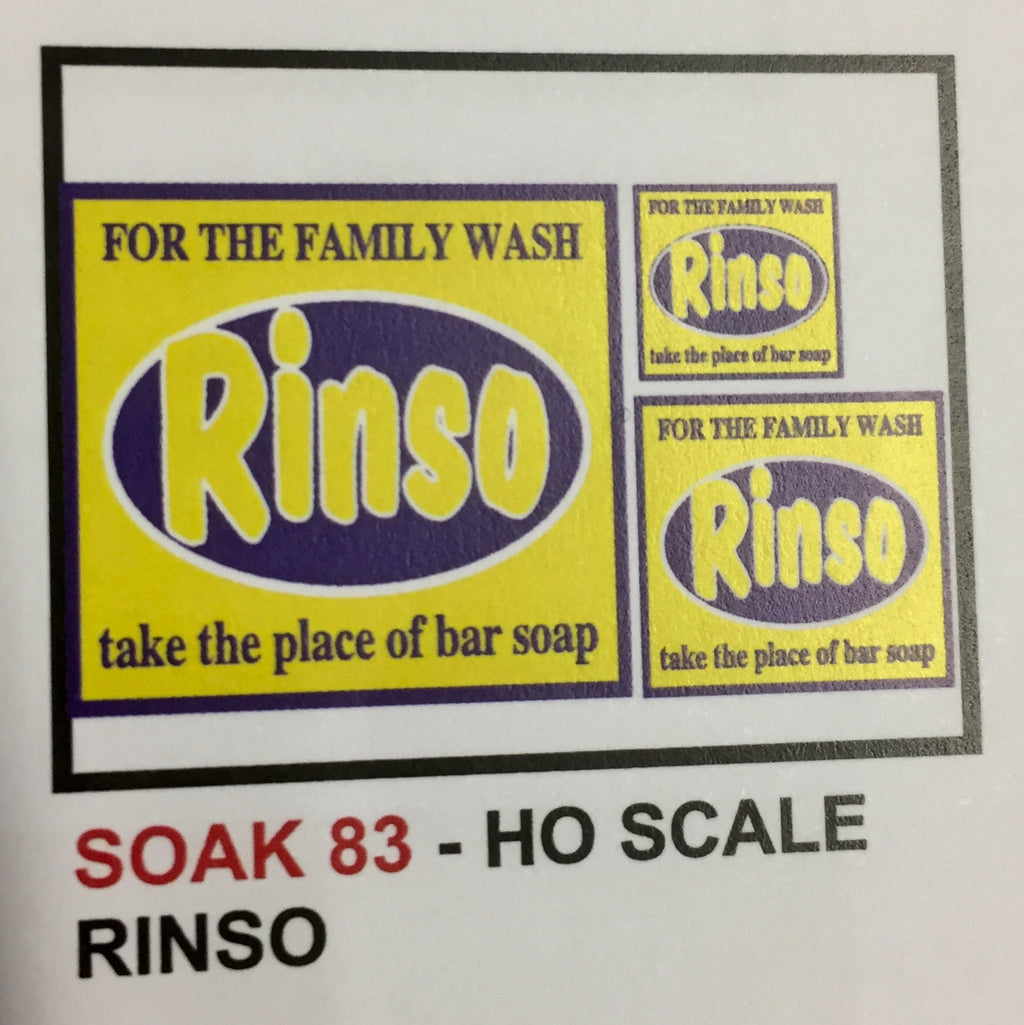 "SK 83 SHOP billboard ""RINSO"" DECAL HO"