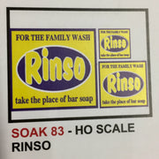 "83 BILLBOARD SIGHS SK 83 ""RINSO""  DECAL HO."