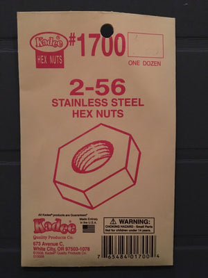 #1700 Nuts Stainless Steel 2-56