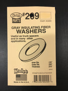 # 209 Gray insulated washer .010in Thick