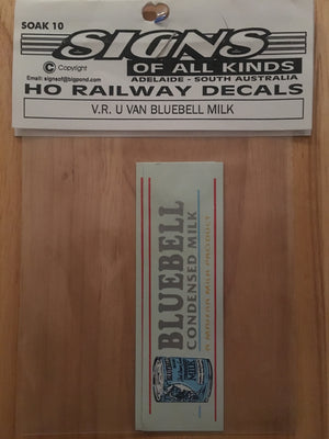 SK 10 DECAL for Vic, Rail U VAN